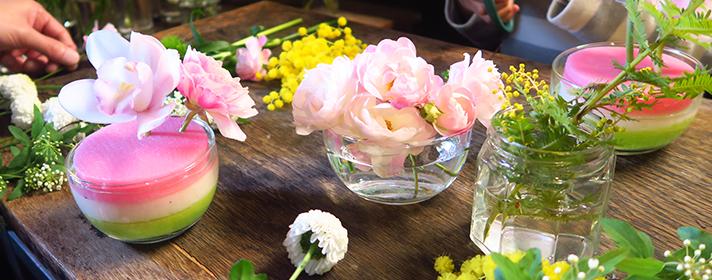 桃の節句お花教室